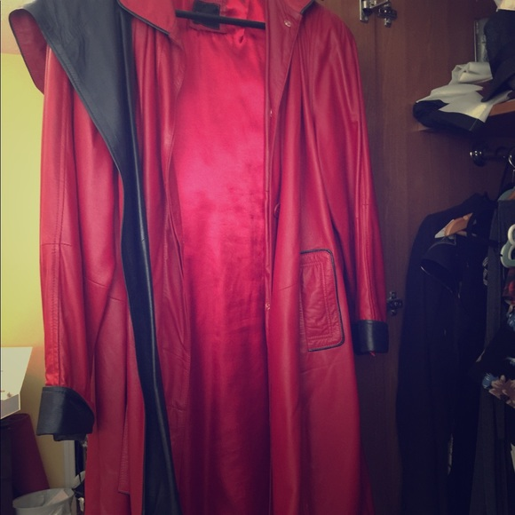 Jackets & Blazers - RED LEATHER COAT